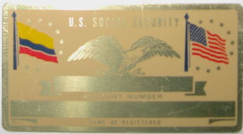 COLUMBIA FLAG SECURITY CARD