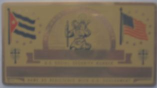 GOLD COLOR CUBAN ST CHRISTOPHER SOCIAL SECURITY CARD