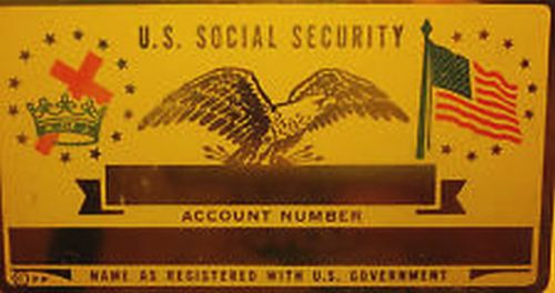 MOOSE SOCIAL SECURITY CARD
