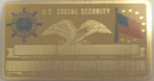 SEAFARERS SOCIAL SECURITY CARD
