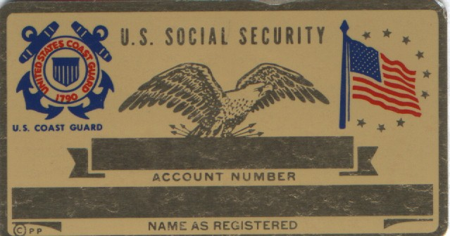 COAST GUARD SOCIAL SECURITY CARD
