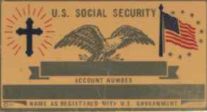 GOLD COLOR CHRISTIAN SOCIAL SECURITY CARD
