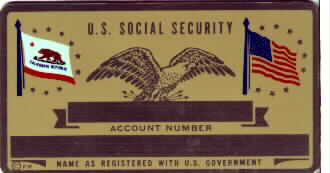 CALIFORNIA SECURITY CARD