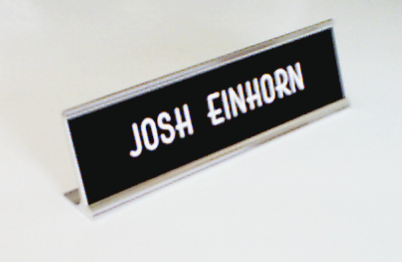 custom desk name plates name badges desk plates