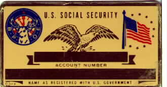 ELKS SOCIAL SECURITY CARD
