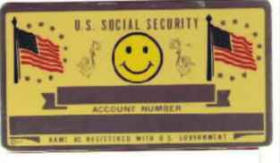HAPPY FACE SOCIAL SECURITY CARD