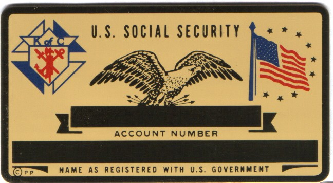 KOC SOCIAL SECURITY CARD