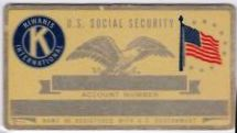 KIWANIS SECURITY CARD