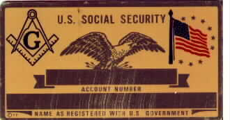 MASONS SOCIAL SECURITY CARD