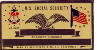 NAVY SOCIAL SECURITY CARD
