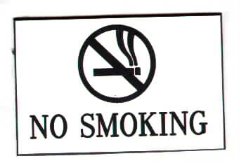 no smoking signs by Cu...