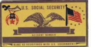 SHRINER SOCIAL SECURITY CARD