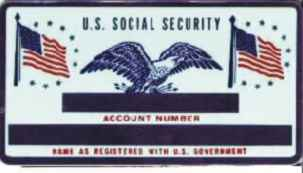 SILVER SOCIAL SECURITY CARD