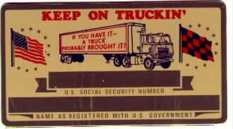 TRUCKIN SECURITY CARD