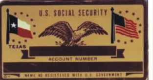 TEXAS STATE FLAG SOCIAL SECURITY CARD